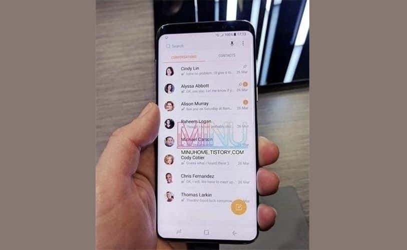 Samsung Galaxy S9 Gets Spotted Again In Leaked Live Photo