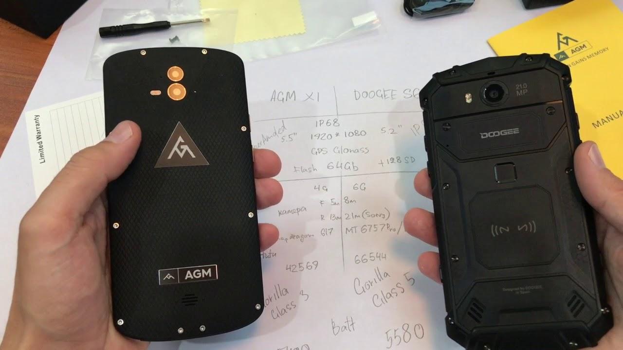 Сравнительный обзор Doogee S60 и AGM X1(распаковка)