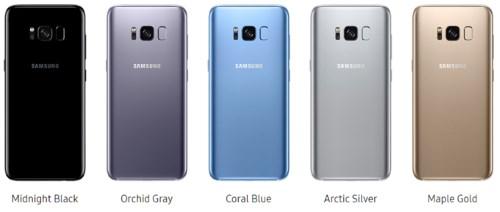 Все цвета корпуса Samsung Galaxy S8 и какой лучше купить?