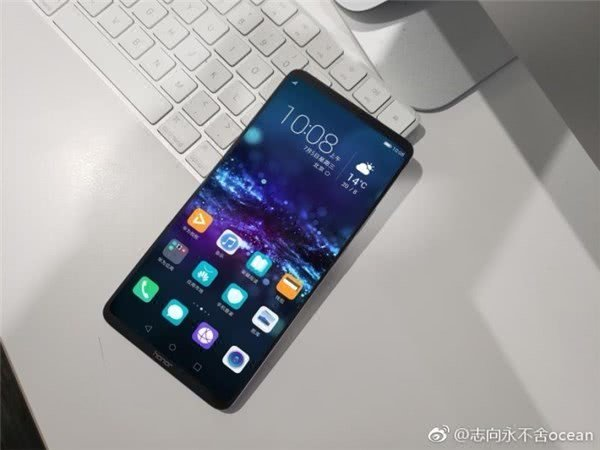 Honor Note 10's front design revealed in leaked image - Gizmochina