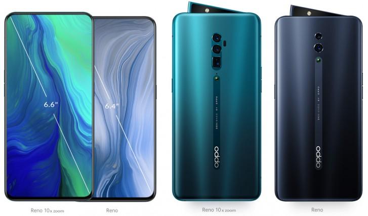 Oppo «глобально» представила смартфоны Reno и Reno 10x zoom