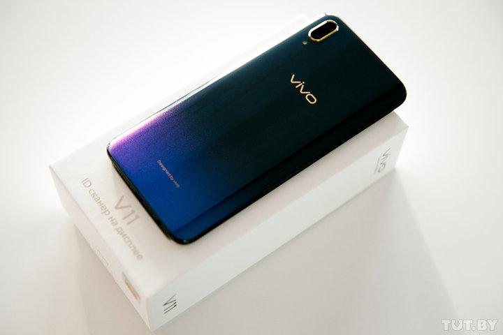 Обзор смартфона Vivo V11 со сканером отпечатков пальцев в экране