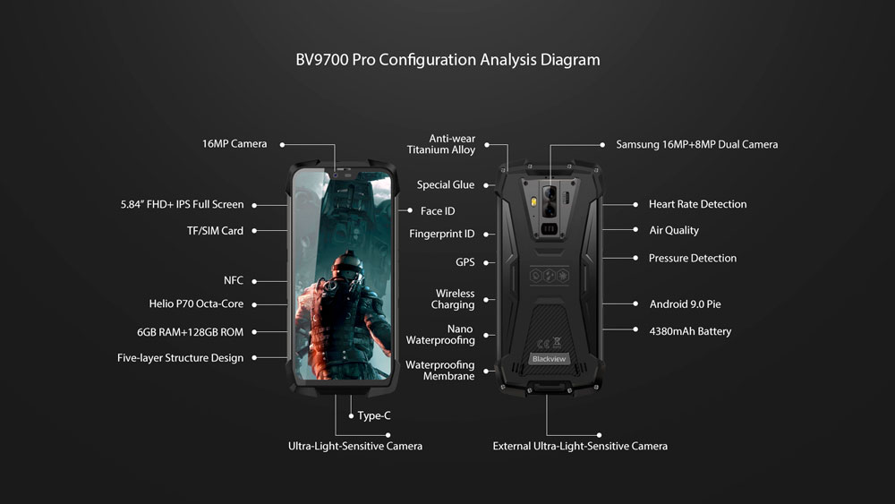 ▷ Blackview BV9700 Pro: features of the off-road smartphone -
