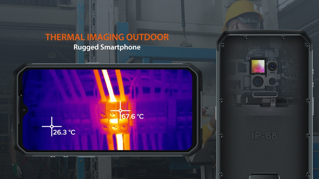 Thermal Imaging Outdoor Rugged Smartphone Ulefone Armor 9 by