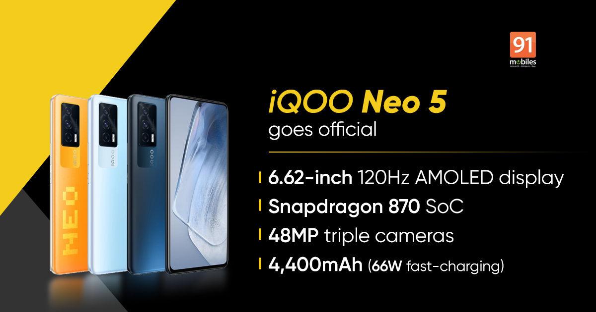 iQOO Neo 5 5G with Snapdragon 870 and 120Hz AMOLED display