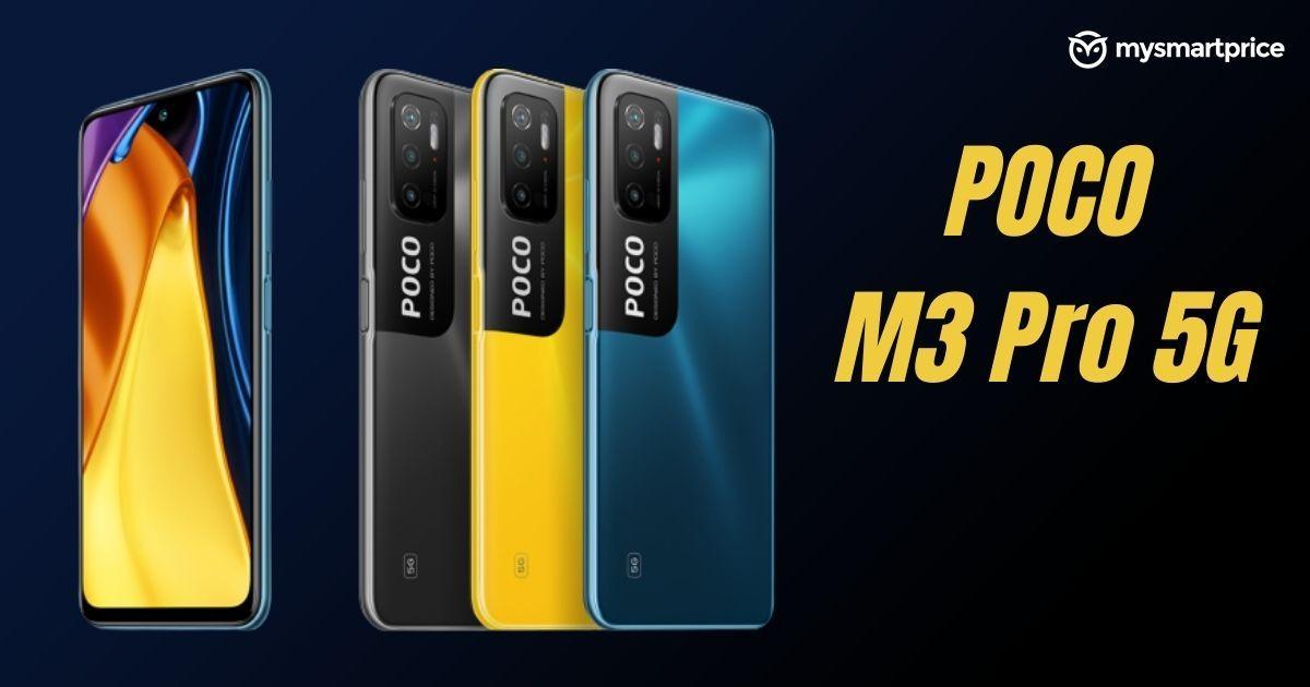 Poco M3 Pro 5G With MediaTek Dimensity 700, 90Hz Display Launched